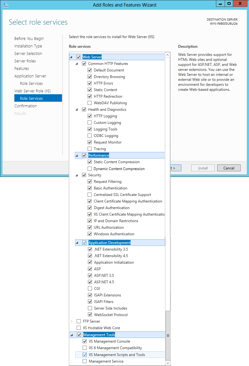Configuring Windows Server 2012 for ASM Core