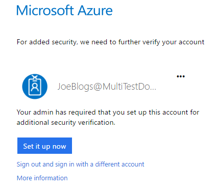 Azure Multi-factor Authentication