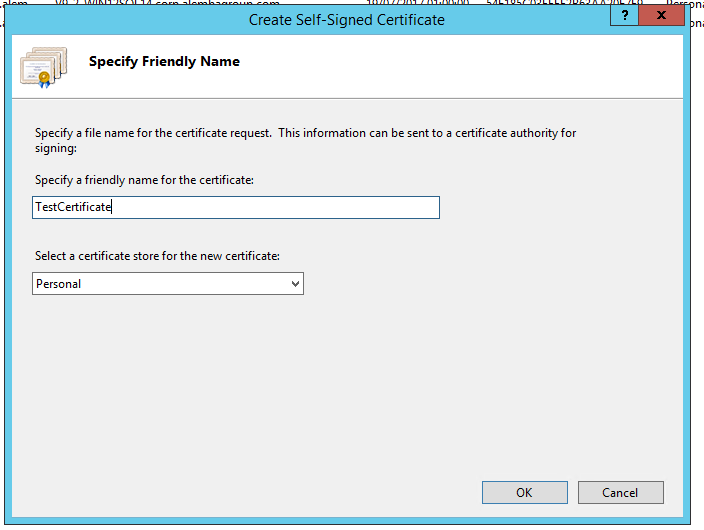 Creating A Self Signed Certificate